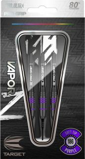 Vapor Z Black Purple 80% Softtip Darts | Darts Warehouse