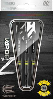 Vapor Z Black Yellow 80% Softtip Darts | Darts Warehouse