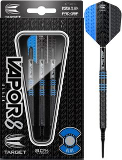 Vapor8 Black Blue 80% Softtip Darts | DartsWarehouse