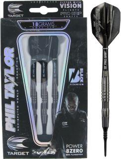 Target 8ZERO Black B 80% Phil Taylor Softtip Darts   DartsWarehouse