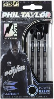 Target 8ZERO Black A 80% Phil Taylor Softtip Darts   DartsWarehouse
