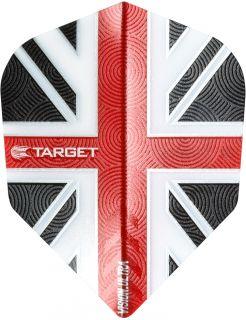 Vision Ultra UK Flag Clear Red | Target Dartflights | Darts Warehouse