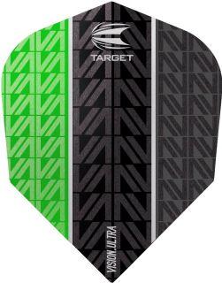 Vision Ultra Vapor8 Black Green Std.6 Target Dartflights | Darts Warehouse