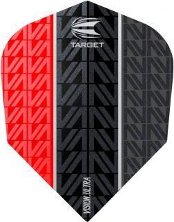 Vision Ultra Vapor8 Black Red Std.6 Target Dartflights | Darts Warehouse