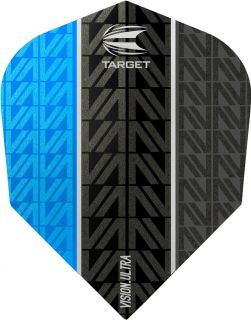 Vision Ultra Vapor8 Black Blue Std.6 Target Dartflights | Darts Warehouse