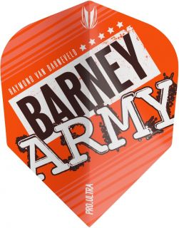 Vision Ultra Player Barney Army Orange Std.6 Target Flight   Darts Warehouse