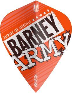 Vision Ultra Player Barney Army Orange Kite Target Flight | Darts Warehouse