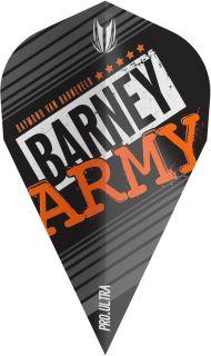 Vision Ultra Player Barney Army Black Vapor Target Flight | Darts Warehouse