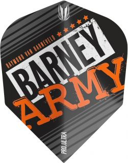 Vision Ultra Player Barney Army Black Ten-X Target Flight | Darts Warehouse