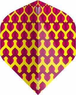 Vision Fabric Yellow Std. Target Dartflights | Darts Warehouse