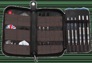Unicorn Maxi Trifold Dartwallet Black Leather | Darts Warehouse