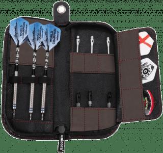 Unicorn Midi Trifold Dartwallet Black Leather | Darts Warehouse