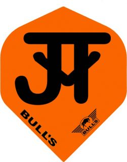 Bull's Powerflight Std. JvT Orange Black   Darts Warehouse