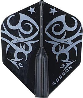 Robson Plus Flight Std. Tribe White   Darts Warehouse