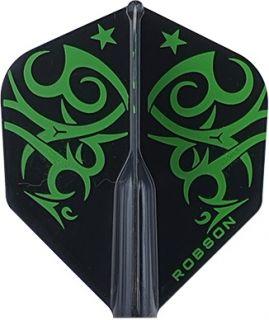 Robson Plus Flight Std. Tribe Green   Darts Warehouse