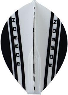Robson Plus Flight Pear V White | Darts Warehouse