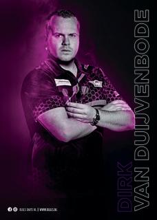 Dirk van Duijvenbode Player Poster A3 Bull's NL Darts | Darts Warehouse