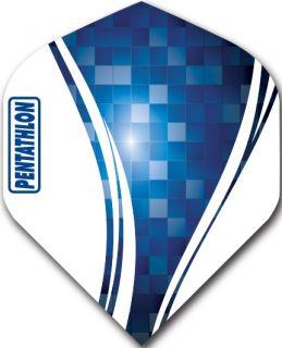 Pentathlon Std. Swirl Blue   Darts Warehouse Dart Flights