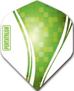 Pentathlon Std. Swirl Green   Darts Warehouse Dart Flights