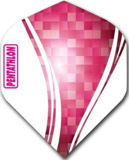 Pentathlon Std. Swirl Pink   Darts Warehouse Dart Flights