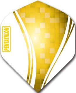 Pentathlon Std. Swirl Yellow   Darts Warehouse Dart Flights