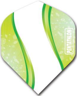 Pentathlon Std. Spiro Green   Darts Warehouse Dart Flights