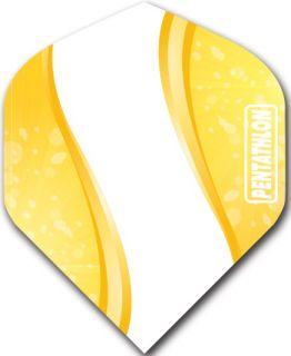 Pentathlon Std. Spiro Yellow   DartsWarehouse Dart Flights