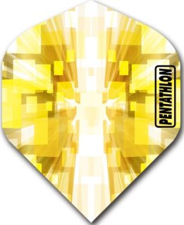 Pentathlon Std. Burst Yellow   DartsWarehouse Dartflights