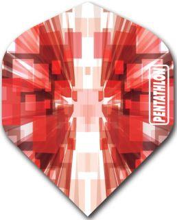 Pentathlon Std. Burst Red   DartsWarehouse Dartflights