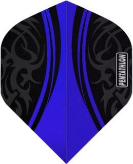 Pentathlon Std. Tribal Blue   Sterke Dartflights   Darts Warehouse