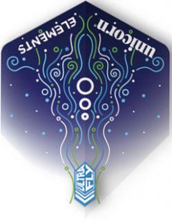 UltraFly Elements Blue Hydrostorm Big Wing Unicorn Flight | Darts Warehouse