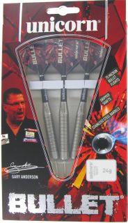 Bullet Gary Anderson Stainless Steel   Unicorn Darts bij Dartswarehouse