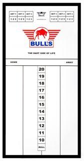 Styreen Scorebord 60x30 cm Black | Darts Warehouse