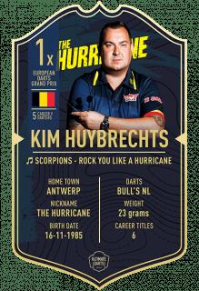 Ultimate Card Kim Huybrechts 37x25 cm | Darts Warehouse