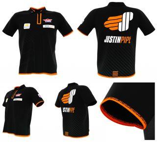 Bull's Justin Pipe Dartshirt Black | Darts Warehouse