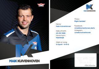 Maik Kuivenhoven Signcard   Darts Warehouse