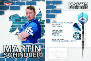 Martin Schindler Handtekening Kaart 2020   Darts Warehouse