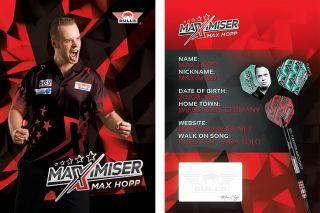 Max Hopp Handtekeningkaart 2020   Darts Warehouse