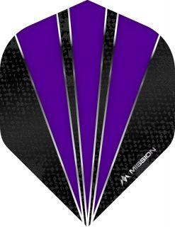 Mission Flare Purple Std. Dartflight | Darts Warehouse