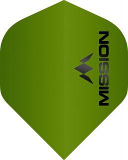 Mission Logo 100 Std. Matt Green Dartflight   Darts Warehouse