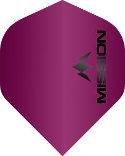 Mission Logo 100 Std. Matt Pink Dartflight   Darts Warehouse