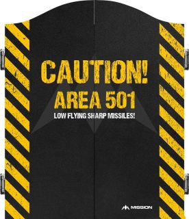 Mission Caution Area 501 Yellow Cabinet | Darts Warehouse