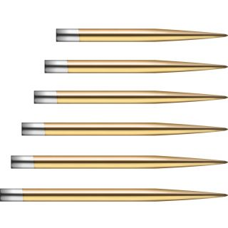 All Mission Glide Dartpoints Gold Smooth | Darts Warehouse