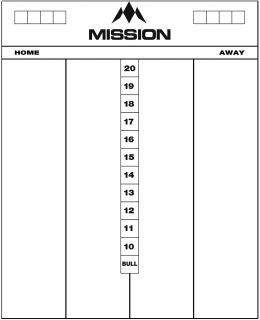 Mission Marker Board Darts scoreborden | Darts Warehouse