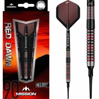 Mission Red Dawn 90% M1 Softtip Darts | Darts Warehouse