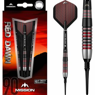 Mission Red Dawn 90% M2 Softtip Darts | Darts Warehouse