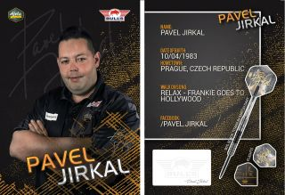 Pavel Jirkal Signcard | Darts Warehouse
