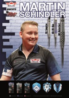 Martin Schindler The Wall Player Poster Bull's NL   Darts Warehouse