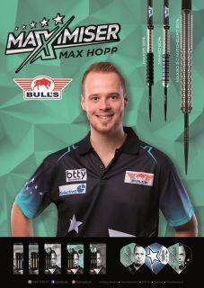 Max Hopp Player Poster Bull's NL Darts   Darts Warehouse
