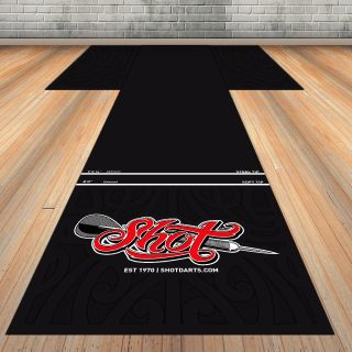 Shot T-Mat Rubber Floor Protection 300x60 cm | Darts Warehouse